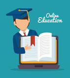 Online education design. Vector illustration eps10 graphic Stock Photo