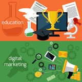 Online education and digital marketing Royalty Free Stock Photos