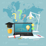 Online education and e-learning concept Stock Photos