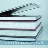 Online education e-learning. Online courses education e-learning concept educational background Royalty Free Stock Photos