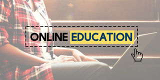 Online Education E-learning Knowledge Technology Concept.  Stock Photo