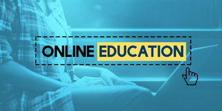 Online Education E-learning Knowledge Technology Concept Stock Images