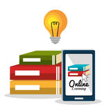 Online education elearning Royalty Free Stock Image