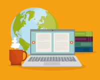Online education and eLearning Royalty Free Stock Photo