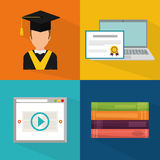 Online education and eLearning Royalty Free Stock Photography