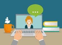 Online education and eLearning Stock Photo