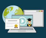 Online education and eLearning Royalty Free Stock Images