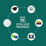 Online education and eLearning Stock Image