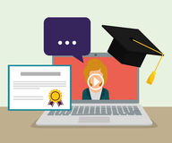 Online education and eLearning stock illustration