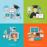 Online Education Flat Stock Image