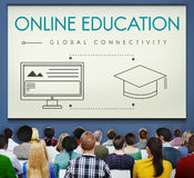 Online Education Global Connectivity Graphic Concept royalty free stock image
