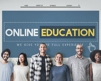 Online Education Homepage E-learning Technology Concept royalty free stock photos