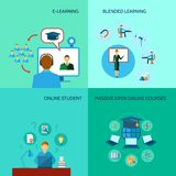 Online Education Icon Flat Stock Photography