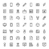 Flat icon set Stock Images