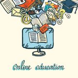 Online education icon set Royalty Free Stock Photography