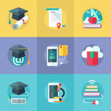 Online education icon Royalty Free Stock Photo