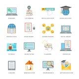 Online education icon set Stock Image