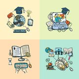Online education icon sketch Royalty Free Stock Photo