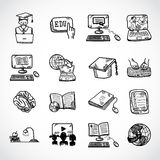 Online education icon sketch Stock Photography