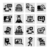Online education icons vector illustration