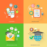 Online Education Icons Stock Image