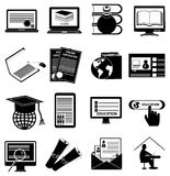 Online Education icons set Royalty Free Stock Photography
