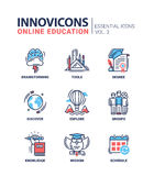 Online Education Icons Set Royalty Free Stock Images