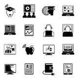 Online education icons Royalty Free Stock Photography