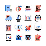 Online Education Icons Set Royalty Free Stock Image