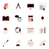 Online education icons set vector illustration Royalty Free Stock Photos