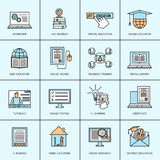Online Education Icons Set Stock Photo
