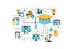 Online education illustration Stock Image