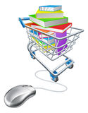 Online education or internet book shopping Stock Image