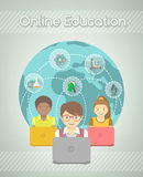 Online Education for Kids Stock Images