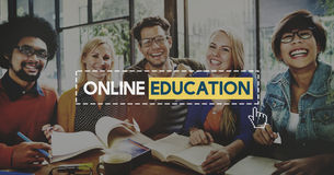 Online Education Knowledge Wisdom Communication Connection Conce Royalty Free Stock Image