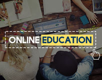 Online Education Knowledge Wisdom Communication Connection Conce Royalty Free Stock Photography