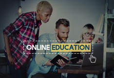 Online Education Knowledge Wisdom Communication Connection Conce Stock Photos