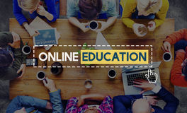 Online Education Knowledge Wisdom Communication Connection Concept stock photos