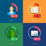 Online education, mooc and courses flat icons Royalty Free Stock Photo