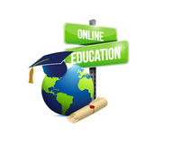 Online education network concept illustration Stock Images