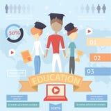 Online education,online training courses, retraining, specialization, university, tutorials. vector illustration. Online education. vector illustration eps 10 Royalty Free Stock Photo