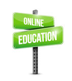 online education road sign illustration Stock Image