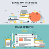 Online education and saving for the future concepts Stock Photography