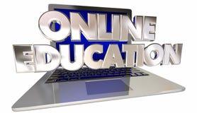 Online Education School Training Computer Stock Image