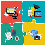 Online education, science and business Stock Images