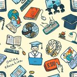 Online education seamless pattern Stock Photography