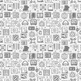 Online education seamless pattern Royalty Free Stock Photos