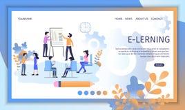 Online Education Service Flat Vector Website vector illustration