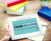 Online Education Studying E-Learning Technology Concept.  Royalty Free Stock Photography