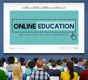Online Education Studying E-Learning Technology Concept Stock Photos
